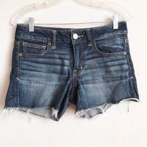 AE Super Stretch Dark Wash Shorts